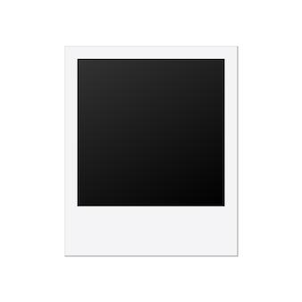Modelo de moldura de foto polaroid