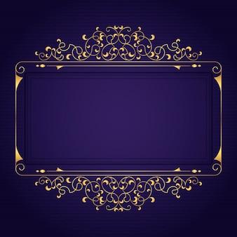 Modelo de moldura gradiente de luxo dourado
