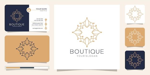 Modelo de monograma elegante e abstrato de arte boutique minimalista de luxo.