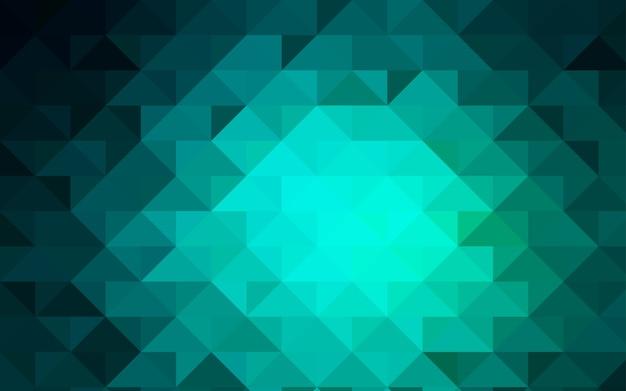 Modelo de mosaico abstrato verde vetor luz