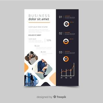 Modelo de mosaico de panfleto de negócios