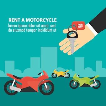 Modelo de moto de aluguel de ordem