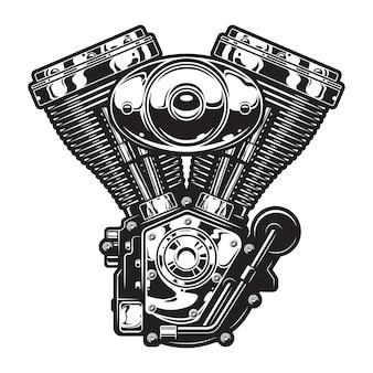 Modelo de motor de moto vintage