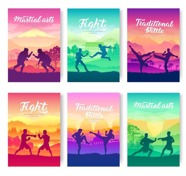 Modelo de natureza de batalha de estilo de luta de flyear, revistas, cartaz, livros, banners de convite.