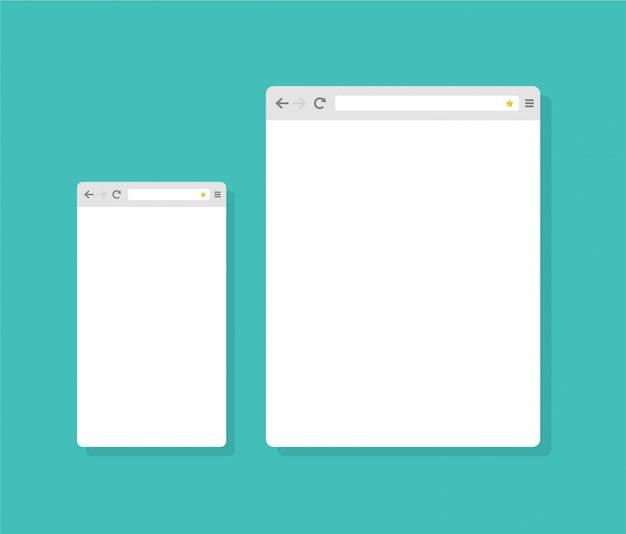 Modelo de navegador de internet design plano abstrato
