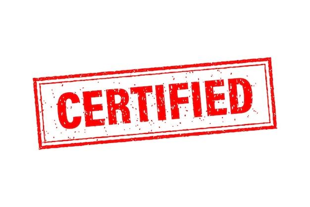 Modelo de negócio certificado vermelho