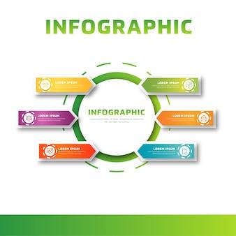 Modelo de negócio colorido moderno infográfico