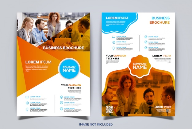 Modelo de negócio de brochura de folheto de capa