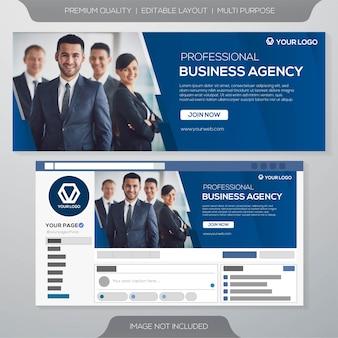 Modelo de negócio de capa de facebook