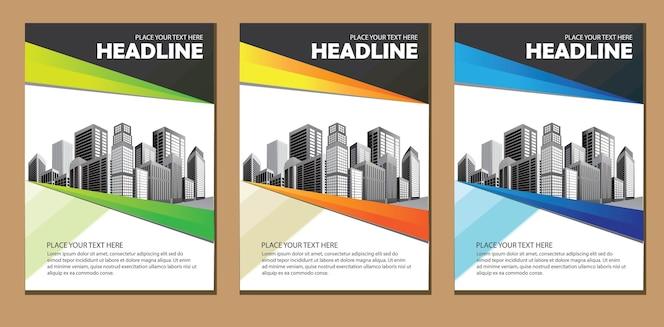 Modelo de negócio de folheto de layout de design
