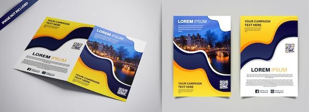 Modelo de negócio de folheto e brochura de capa