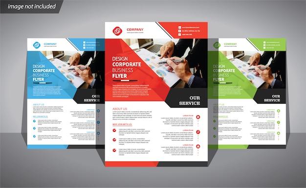 Modelo de negócio de panfleto para brochura de capa corporativa