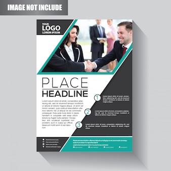 Modelo de negócio de panfleto para brochura de fundo