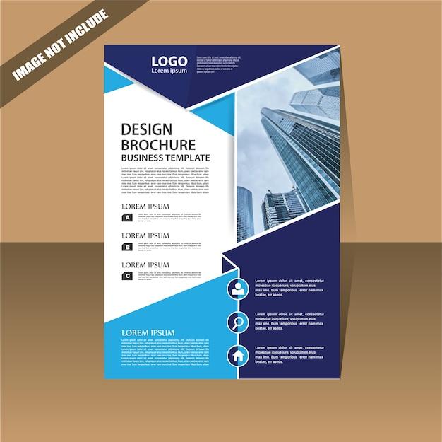 Modelo de negócio de panfleto para relatório anual de capa de design
