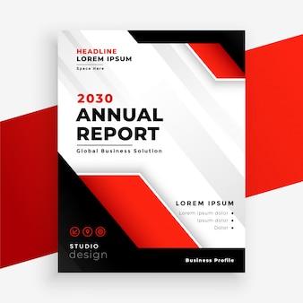 Modelo de negócio elegante relatório anual de empresa vermelha