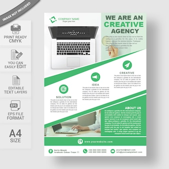 Modelo de negócio flyer design a4