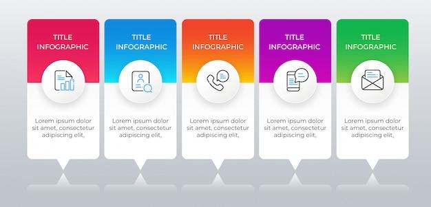 Modelo de negócio infográfico com ícones