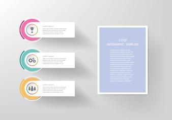 Modelo de negócio infográfico de cronograma