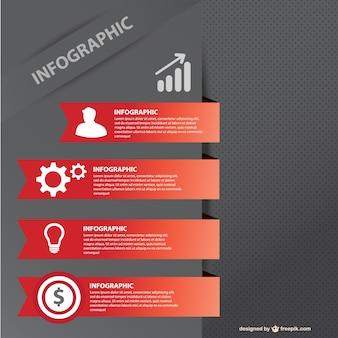 Modelo de negócio infográfico livre