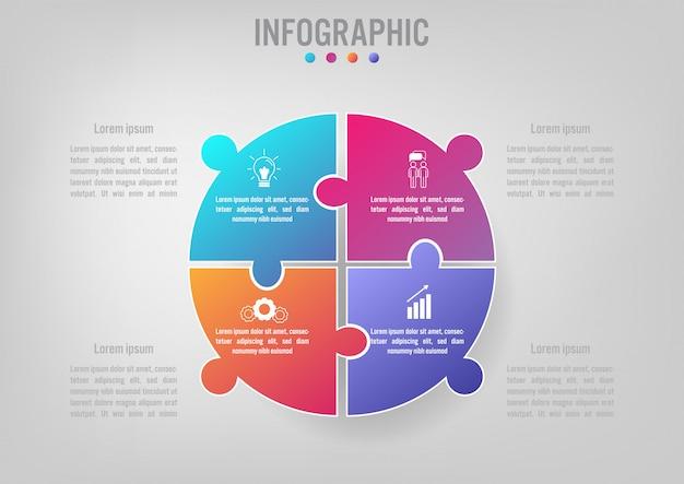 Modelo de negócio infográfico