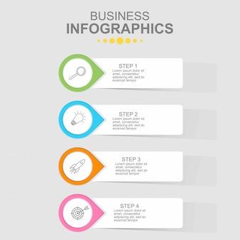 Modelo de negócio infográfico.