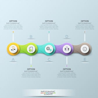 Modelo de negócio moderno círculo. ilustração vetorial