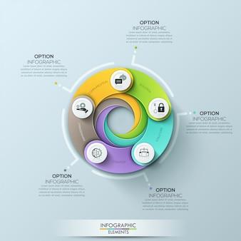 Modelo de negócio moderno círculo