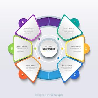 Modelo de negócio moderno infográfico
