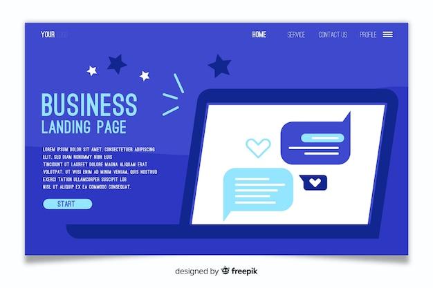 Modelo de negócio - página de destino