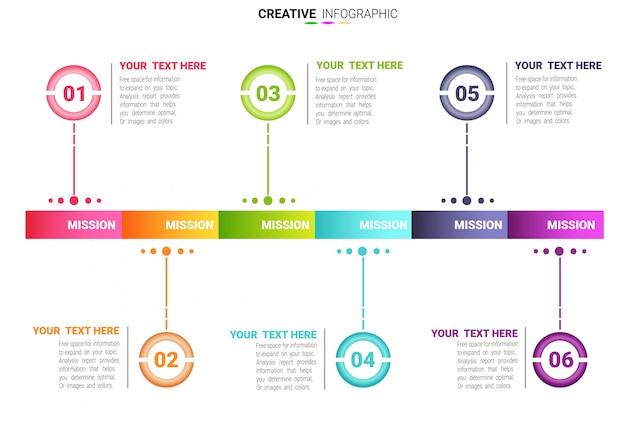 Modelo de negócio para apresentação. conceito criativo para infográfico.
