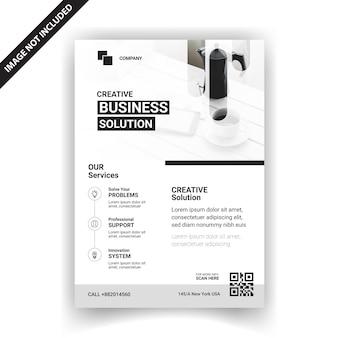 Modelo de negócio profissional flyer design