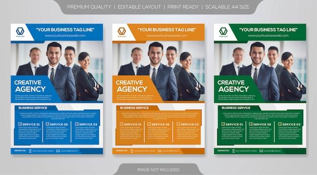 Modelo de negócios brochura premium