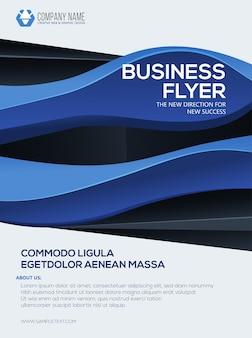 Modelo de negócios cartaz business flyer folheto de relatório anual