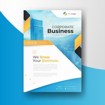Modelo de negócios com foto de edifícios