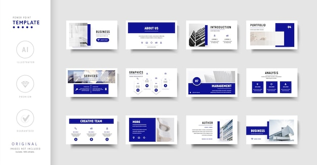 Modelo de negócios cor azul estilo moderno