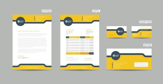 Modelo de negócios corporativos de papelaria