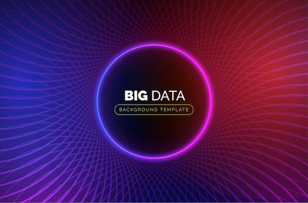 Modelo de negócios de big data com círculo abstrato