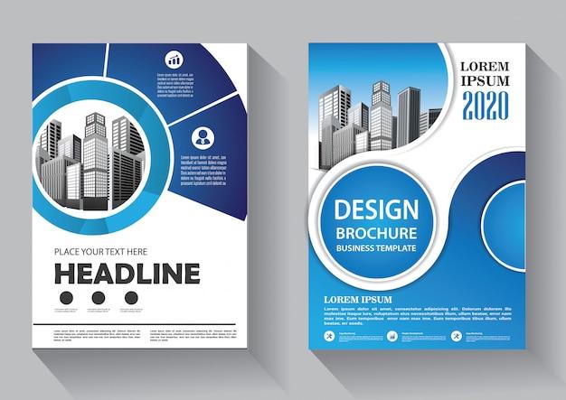 Modelo de negócios de folheto de capa de design para brochura e relatório anual