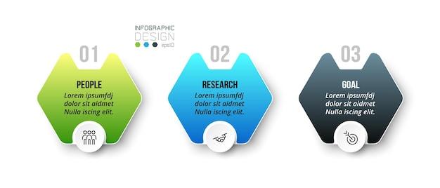 Modelo de negócios infográfico com design de etapa ou opção