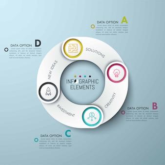 Modelo de negócios infográfico