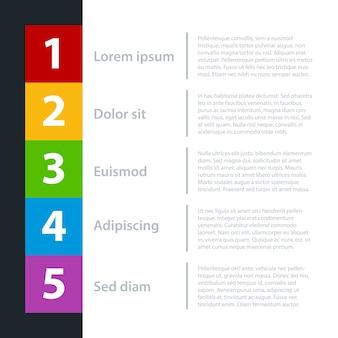 Modelo de negócios moderno para apresentações ou web design. você pode mover gradiente amarelo para destacar opções diferentes.