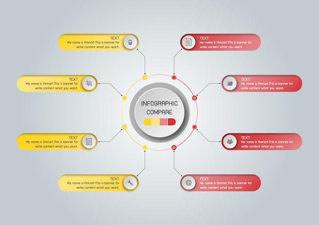 Modelo de negócios vetor para apresentação