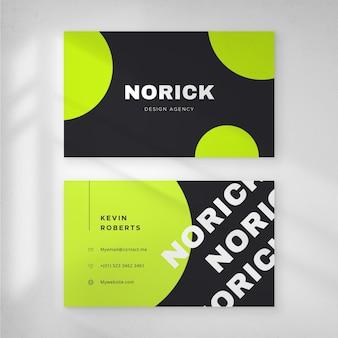 Modelo de néon de tema de cartão de visita