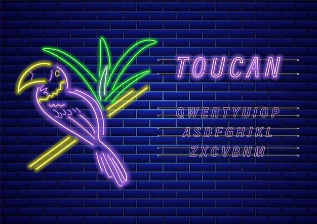 Modelo de néon de tucano