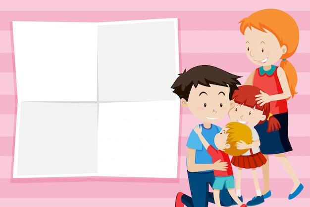 Modelo de nota de família feliz