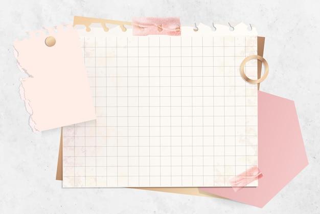 Modelo de nota de papel grade