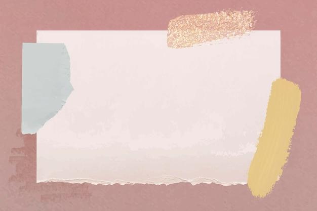 Modelo de nota de papel rasgado