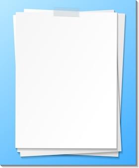 Modelo de nota de papel vazio colado com fita adesiva
