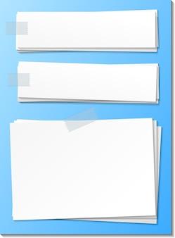 Modelo de nota de papel vazio colar com fita