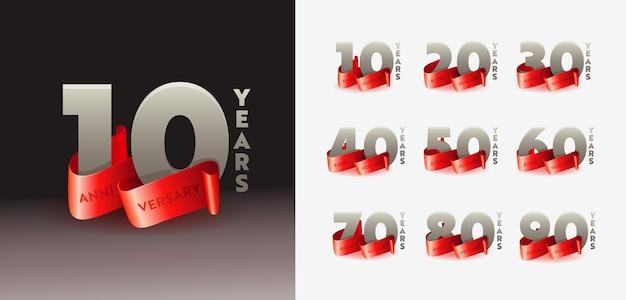 Modelo de números 3d de parabéns de aniversário